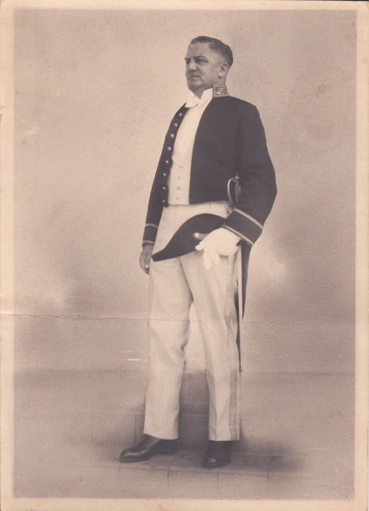 My great-grandfather F. Velthuizen Weil in his official costume as Assistent Resident in Bandoeng Indonesia