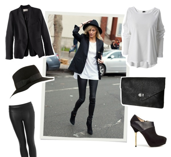 Get The Look Anja Rubik By Caroline B Models Ego Bloggers Lookbook Pinterest Inspiration