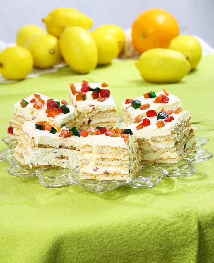 Prajitura usoara cu crema de lamaie si biscuiti/ Quick Lemon cake | gabriela cuisine - recipes