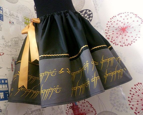 Hobbit,Lord Of The Rings,Lady Of The Rings, Geek Skirt, Tolkien, Hobbit Skirt, RoOBYS, ALL Sizes