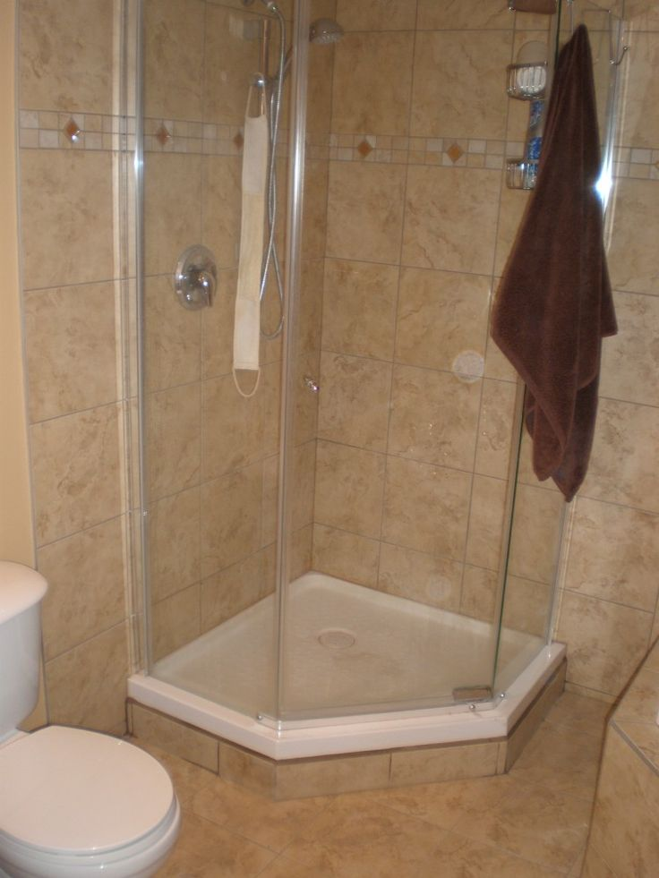 Acrylic Shower Pan Tile Walls Small Bathroom With Shower