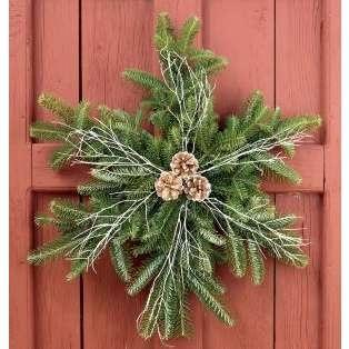 Snow flake holiday wreath