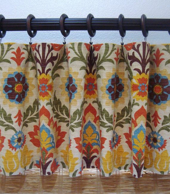 kitchen :: cafe curtain  Waverly Curtain Valances Waverly Santa Maria by CreativeTouchDecor
