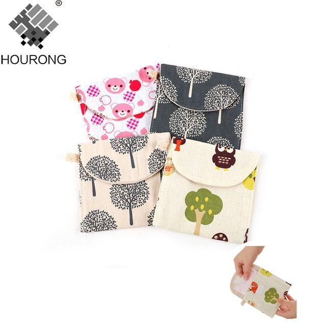 1pcs Colorfu Women Sanitary Bag Brief Cotton Sanitary Towel