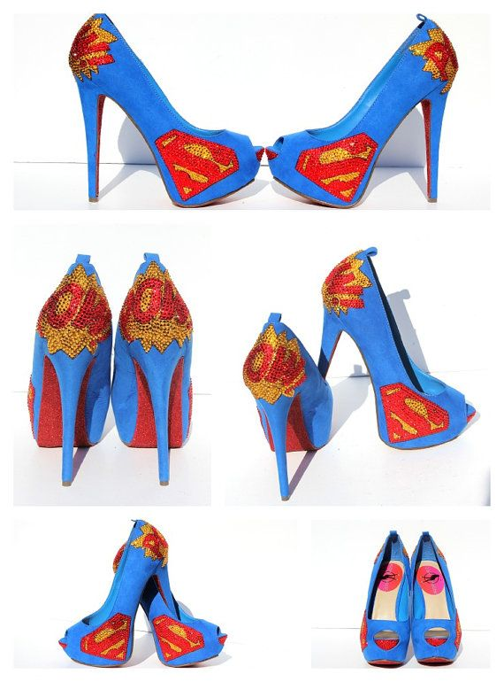 Hey, I found this really awesome Etsy listing at https://www.etsy.com/listing/199857632/superman-heels-with-swarovski-crystals