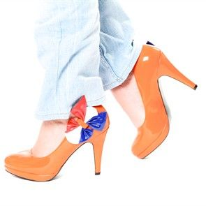 Oranje pumps Hollandse Hakken