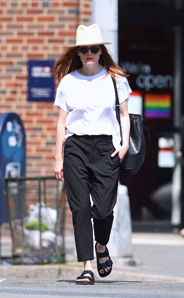 Lady in white! The actress is seen keeping a low profile in New York