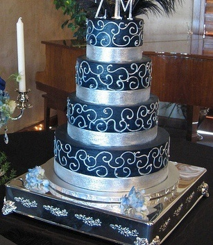 31 best Navy Blue and Silver Wedding Theme images on Pinterest ...