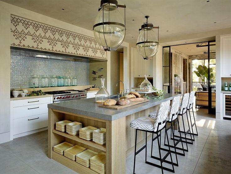 Offene Küche im toskanischen Stil