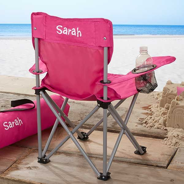 Toddler Personalized Pink Folding Camp Chair With Images