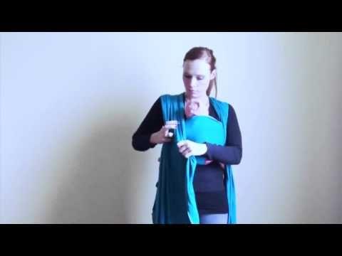 Trageschule Hamburg Elastisches Tragetuch richtig binden - YouTube
