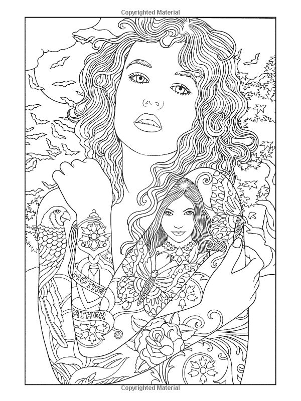21 best Color Me Women images on Pinterest | Coloring books ...
