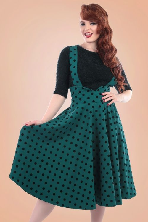 Collectif Clothing Mary Polkadot Halter Swing Skirt 16175 20150625 1