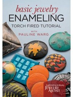 This is the DVD cover for Basic Jewelry Enameling: Torch Fired Tutorial with Pauline Warg.