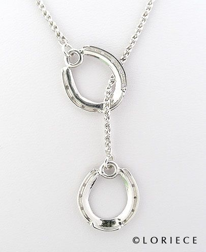 Set of Horseshoes Equestrian Pendants and Necklaces, Horse Pendants and Necklaces | Loriece.com