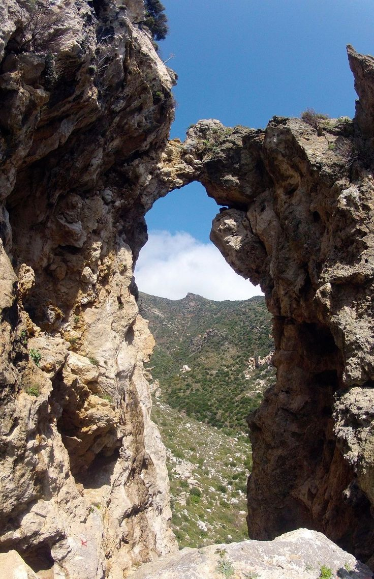 Hike to Pythagoras cave. One of many beautiful views... Samos island, Greece...