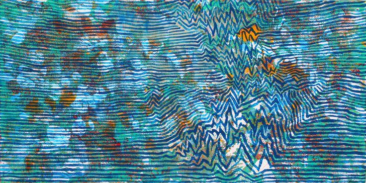 Mario Vespasiani - Senza Titolo, acrilico su tela, 50x25cm 2013