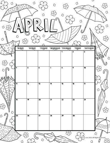 April 2021 Printable Calendar Page   Woo! Jr. Kids ...