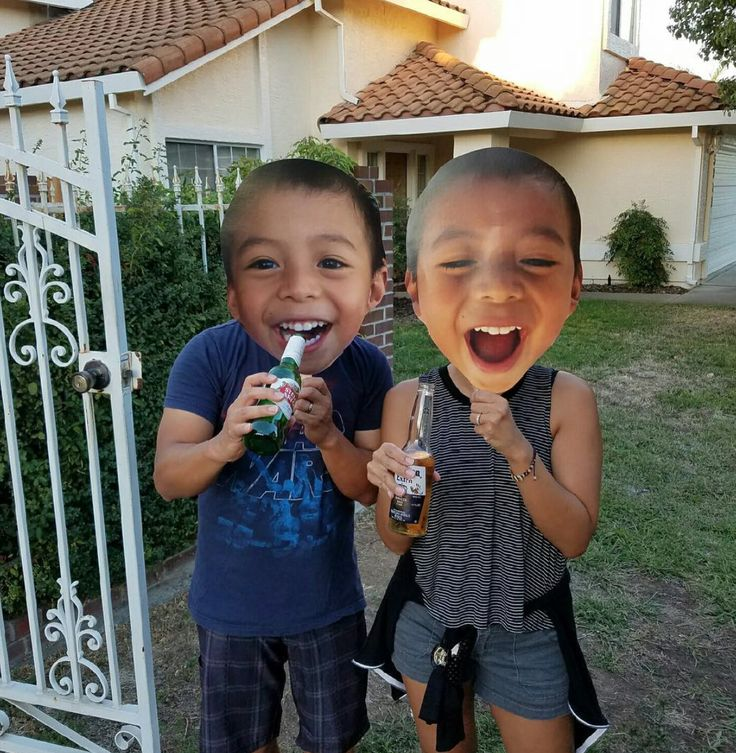 Parties with big head face cutouts!