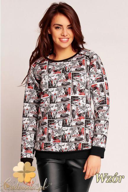 Bluzka w ciekawy wzór marki Nommo.  #cudmoda #bluzki #odzież #clothes #blouses #bluse #moda #styl #kleidung  #clothes