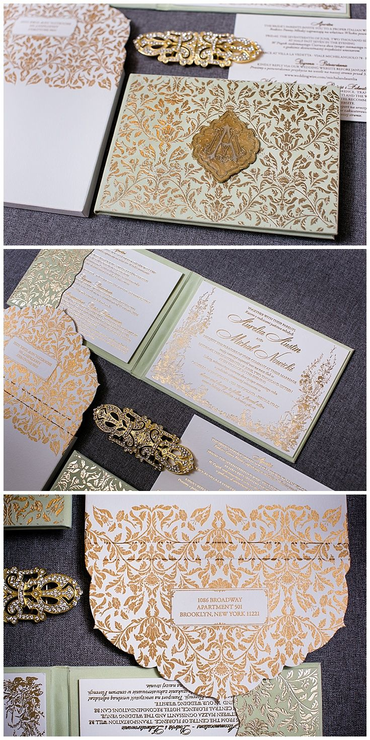 handmade wedding cards ireland%0A Mint and Gold Wedding