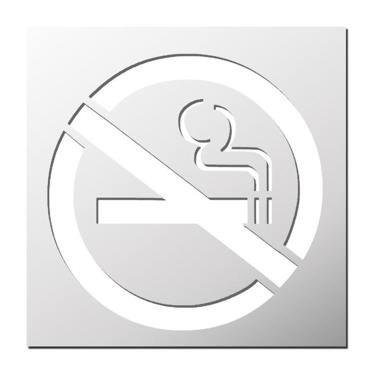 Pochoir Interdiction de fumer