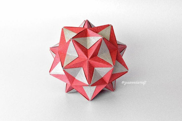 #myfolding #origami #kusudama #tomokofuse #star #papercraft