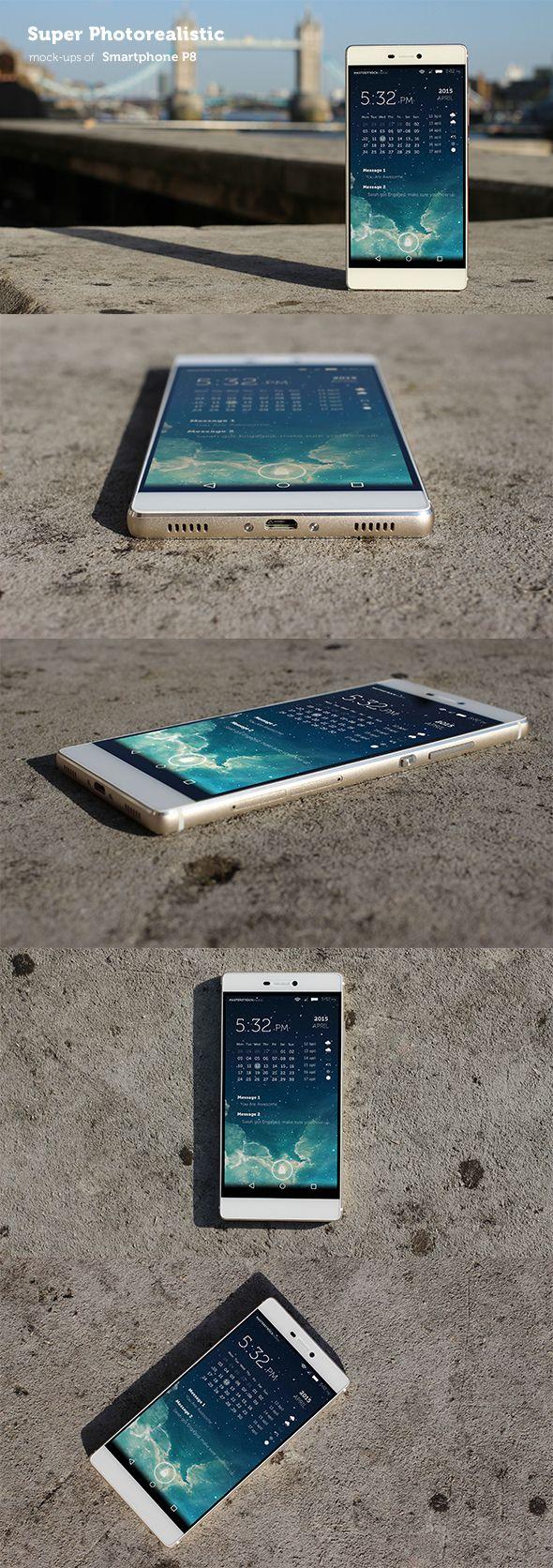 Photorealistic Huawei P8 Mockups on Behance