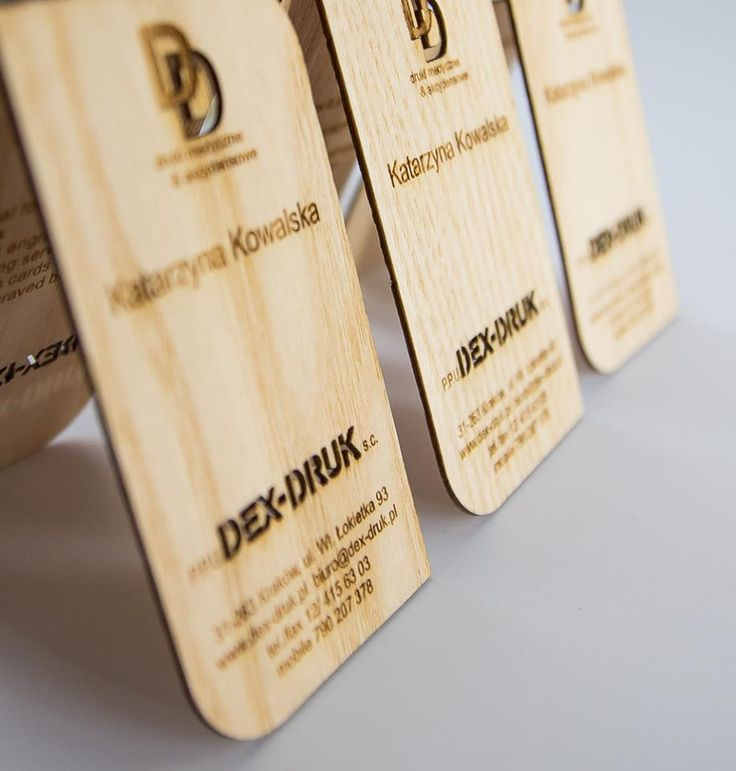 Dex-Druk Wood Business Cards OUR GALLERY OF WOOD: info@dex-druk.pl www.dex-druk.pl Facebook page: Dex-Druk Wood Business Cards