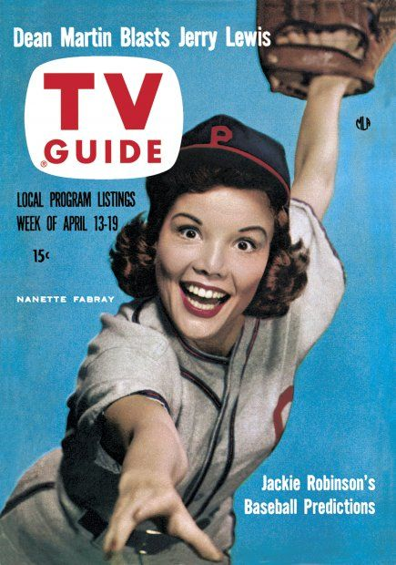 TV Guide, April 13, 1957 - Nanette Fabray, beautiful and funny.