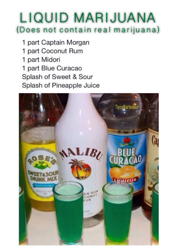 Liquid Marijuana Shot - For more delicious recipes and drinks, visit us here: www.tipsybartender.com