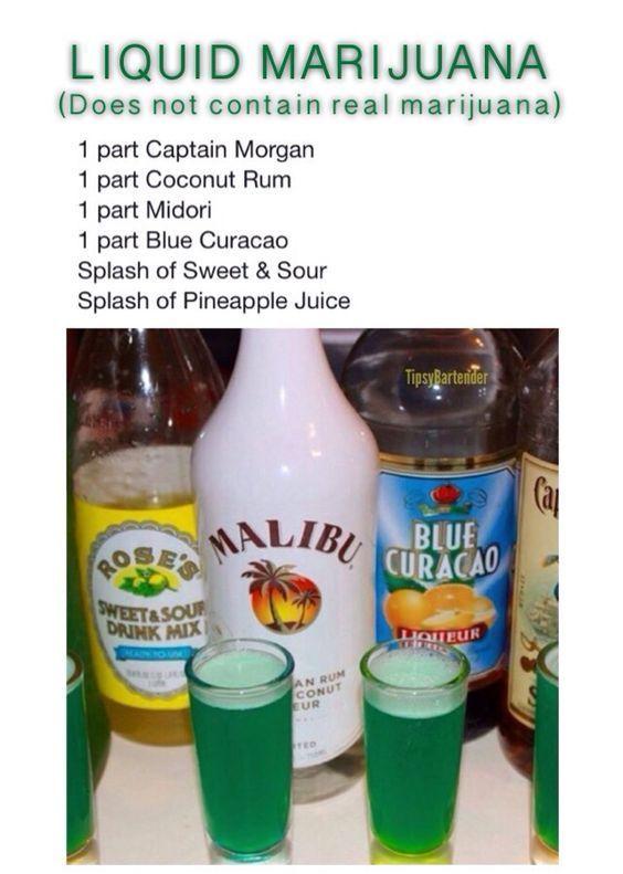 Liquid Marijuana Shot - For more delicious recipes and drinks, visit us here: www.tipsybartender.com