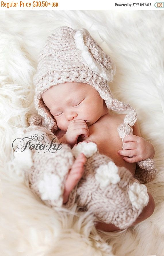SPRING SALE 15% OFF Newborn Baby Girl Outfit  Knit by KnittingLand