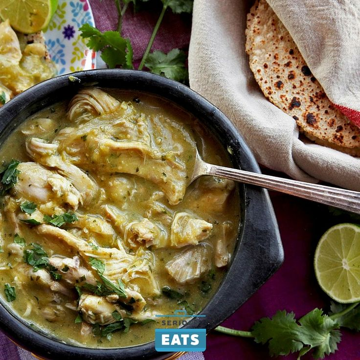 Quick and easy chicken chile verde.