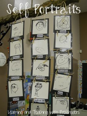 Self portrait classroom display - Learning and Teaching with Peschoolers ≈≈