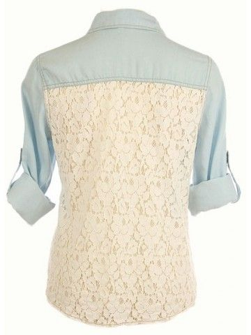 Lace-back denim shirt! Country girl's dream :)