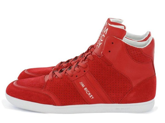 Jim Rickey Sneakers Spring 2011. I love them in red and green! But the usual black and dark blue looks great as well!