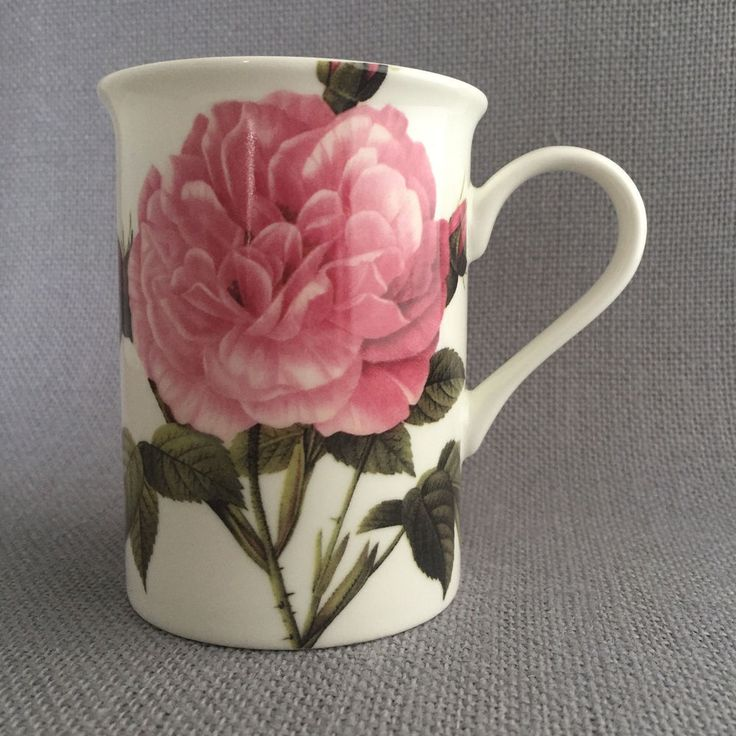 Pierre Redoute Pink Rose Bone China Mug 4 x 3 Inches Cabbage Type  | eBay
