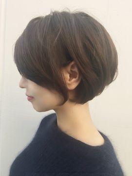 トップふんわりニュアンスショートボブ【Ruufus恵比寿渋谷】 - 24時間いつでもWEB予約OK!ヘアスタイル10万点以上掲載!お気に入りの髪型、人気のヘアスタイルを探すならKirei Style[キレイスタイル]で。