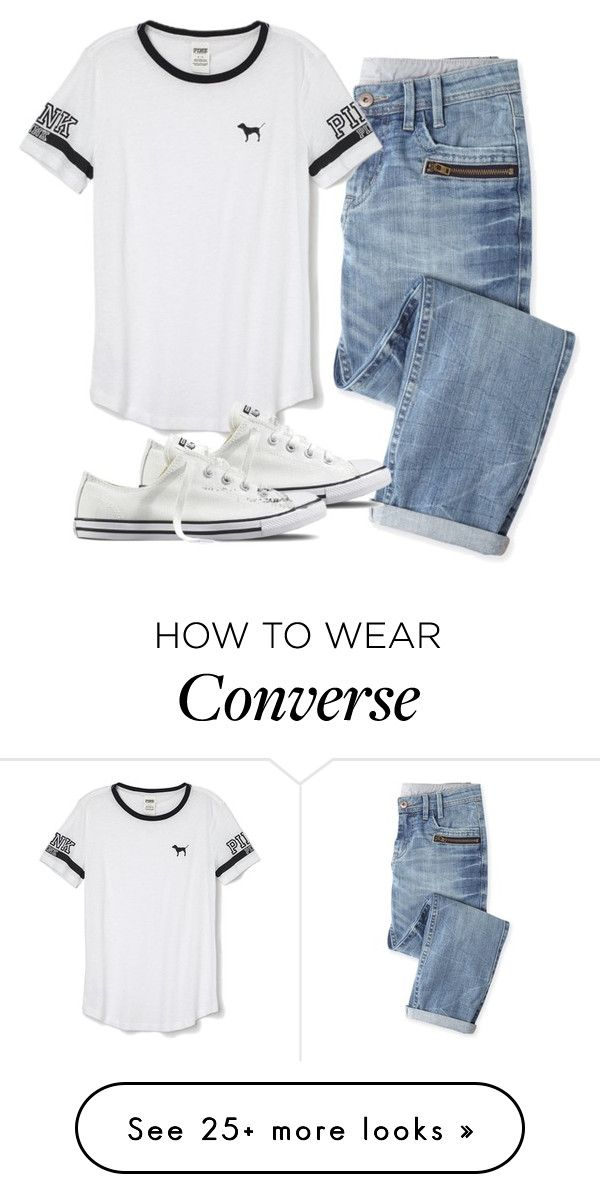 """""""Dentist appointment"""" by melw44 on Polyvore featuring Wrap, Victoria's Secret PINK and Converse"""