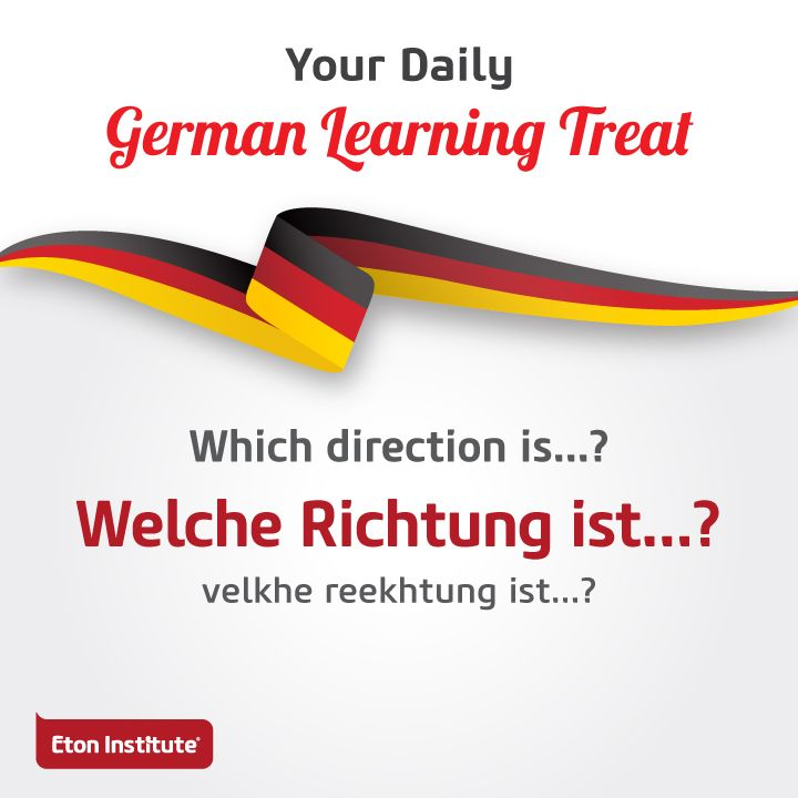 Impress the locals with today's learning treat. Know the right directions by asking in German.