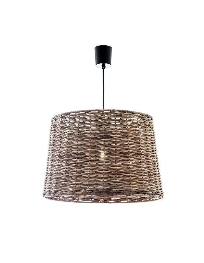 Wicker Large Round Pendant Light