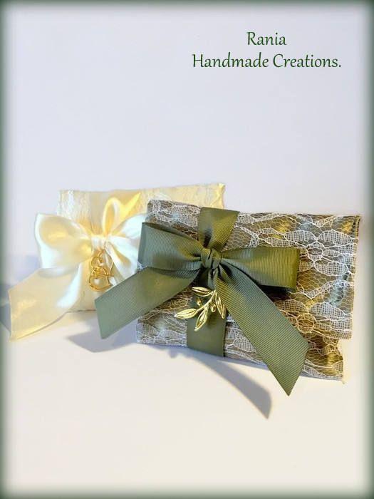 Wedding Favor.Greek Wedding Bomboniere Favors.Greek Wedding Favors Ivory Tulles..Favor gift bags.Wedding favor gift bags.Stefana. by RaniaCreations on Etsy