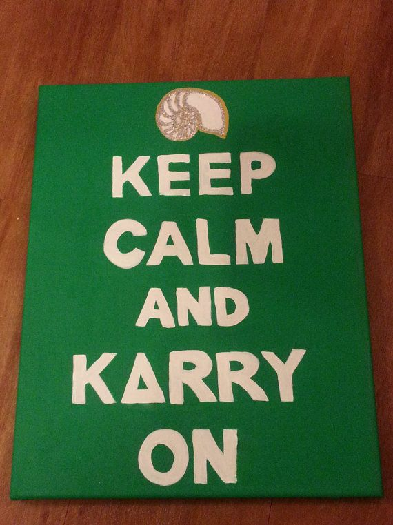 Keep Calm and Carry On Kappa Delta Canvas by Zigzagsj on Etsy, $15.00