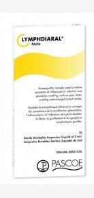 Pascoe Lymphdiaral Forte 10 Ampules -  Homeopathic remedy used to relieve symptoms of swelling, inflammation and infection, such as pain, fever, swollen lymph nodes due to injury or recurrent conditions such as earaches, tonsillitis, and sinusitis.