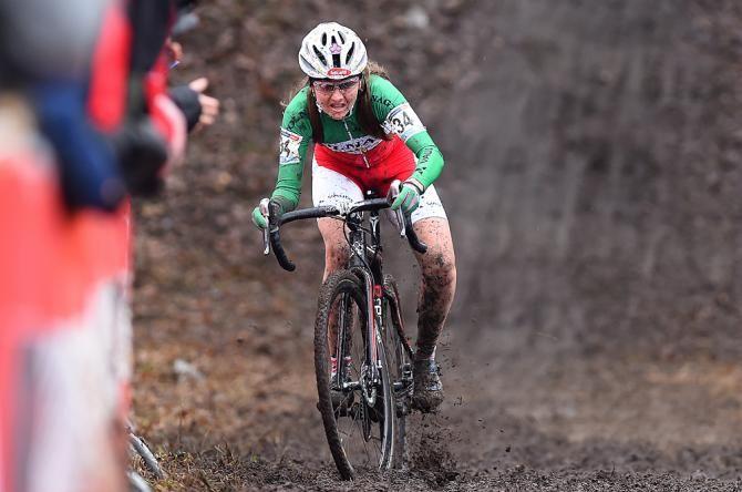 Eva Lechner on her way to victory in Hoogerheide