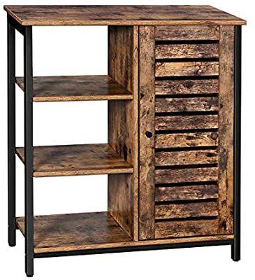 amazon com vasagle lowell storage cabinet floor standing