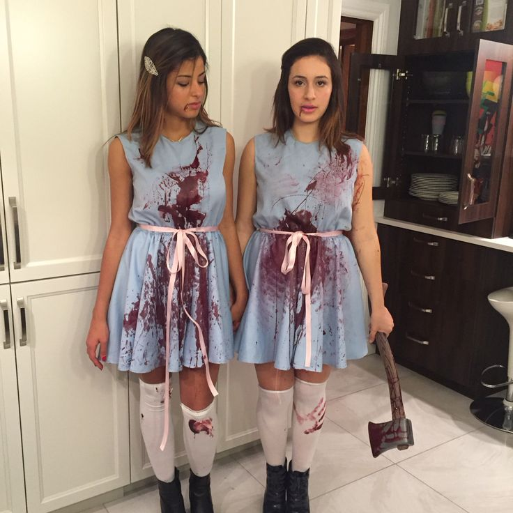 The Shining Sisters Cosplay Halloween Ideas Costume