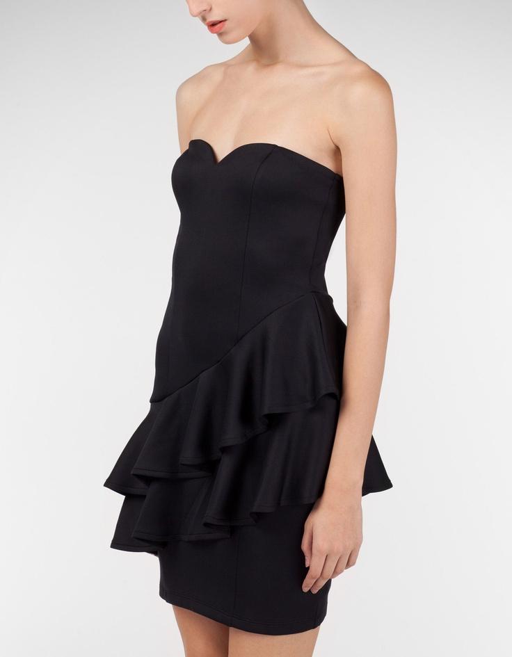 Peplum dress with heart-shaped neckline