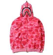 Bape pink camo hoodie size small❤️